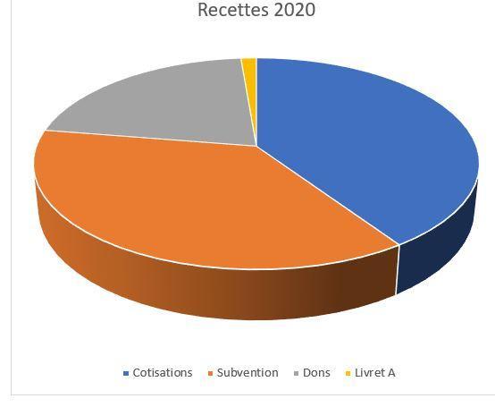 Graphique recettes 2020